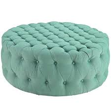 Round Cocktail Ottoman Upholstered by Ottoman Mini Ottoman Fabric Round Ottoman Table With Backrest