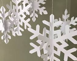 snowflake decorations hanging snowflake etsy