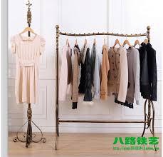bedroom wonderful online shop wrought iron clothing rack shelf