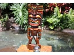 hawaiian 16 big kahuna tiki statue polynesian wood sculpture