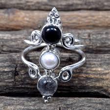 stone rings wholesale images Black rutile black onyx pearl i rss878 925 sterling silver jpg