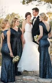 sequin bridesmaid dresses 30 bridesmaids dresses in all shades of blue weddingomania