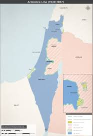 Map Of Israel And Syria by Armistice Lines 1949 1967