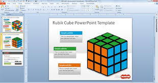 free rubik cube powerpoint template free powerpoint templates