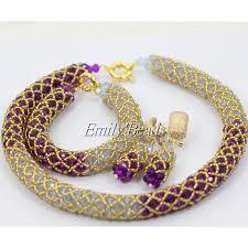 african wedding bead necklace images 2017 popular purple lilac african wedding beads crystal necklace jpg