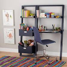 Book Case Desk Little Sloane Leaning Desk Midnight Blue In Desks U0026 Chairs The