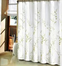Shower Curtains White Fabric Green Sprigs Fabric Shower Curtain Modern Shower Curtains Fabric