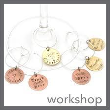 workshop custom wine charms set of 6 series