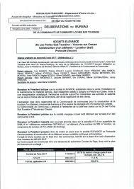 bureau registre des entreprises fédérés de descartes on délibérations bureau cclst du 02