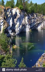 White Marble Rocks For Landscaping by Abandoned Marble Quarry In Karelia Russia Landscape With White