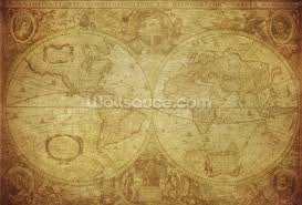 Large Vintage World Map by 17th Century World Map Wallpaper Wall Mural Wallsauce