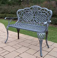 Aluminum Park Benches Amazon Com Oakland Living Mississippi Cast Aluminum Love Seat