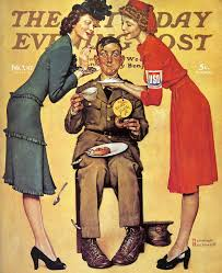 norman rockwell s folk of world war two a continuous lean