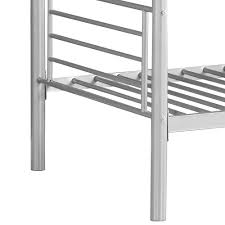 Steel Frame Bunk Beds by Silver Ikayaa Modern Single Over Single Metal Bunk Bed Frame