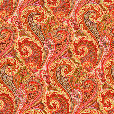 Upholstery Linen Fabric By The Yard Orange Linen Paisley Upholstery Fabric By The Yard Pink Orange