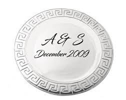 personalized pewter plate pewter wedding plate etsy