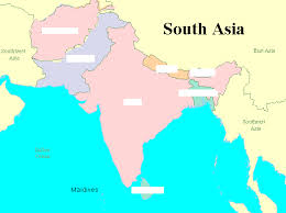 south asia countries map south asia map countries and capitals major tourist