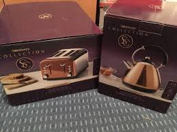 sainsburys kitchen collection sainsbury s collection cordless kettle and 4 slice toaster copper