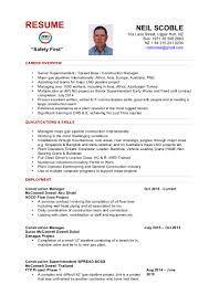 Superintendent Resume Resume Neil Scoble 2016