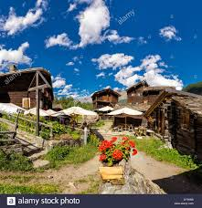 farmhouses chalets hamlet zmutt town village flowers summer