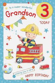to a wonderful grandson 3 today 3rd boy fire engine design happy