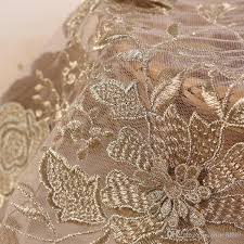 2018 gold lace fabric high quality tulle lace