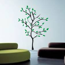 modern tree wall decal sticker nature nursery baby kid boy