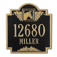 Monogram Plaques Equestrian Wall Plaques Advantage Mailboxes U0026 More