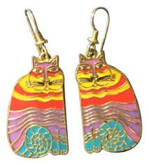 laurel burch earrings laurel burch multi blue yellow purple chesire cats