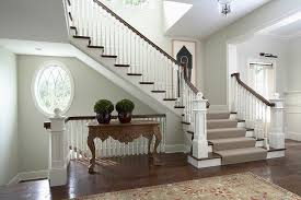 Staircase Banister Awesome Stair Banister Ideas With Staircase Carpet Round Window