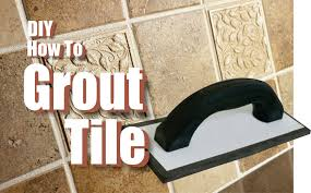 how to grout tile easy diy project youtube