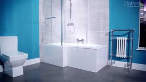 1700mm l shaped square shower bath youtube