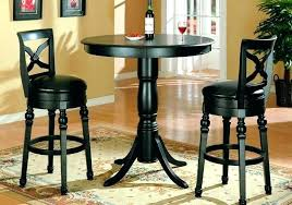 Bar Table And Stool Set Bar Stool Set Of Two Bar Stools Bar Stool And Table Black Finish