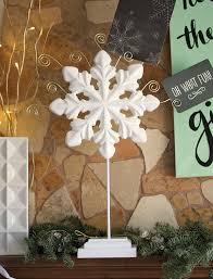 diy snowflake christmas card holder persia lou