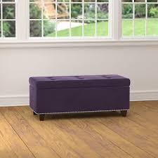 handy living storage ottoman bench purple velvet bj u0027s