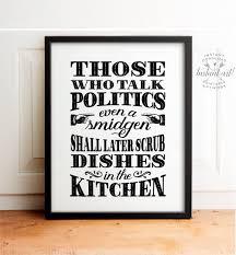 no politics sign holiday decor printable art kitchen art