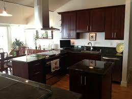 Espresso Kitchen Cabinets by Espresso Kitchen Cabinets With Black Appliances House And Decor