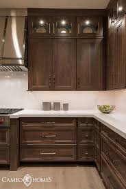 Stained Hickory Cabinets Hickory Cabinets Stained Dark With Medicine Cabinet Unit In Middle