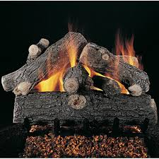 rasmussen 30 inch prestige oak gas log set with vented natural gas