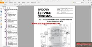 paccar multiplexed service manuals auto repair manual forum