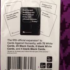 cards against humanity expansion 36 outfitters other cards against humanity 5th
