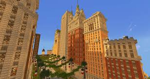 New York City Map For Minecraft by The W E Company Center 1890 S 1940 S Architecture Minecraft