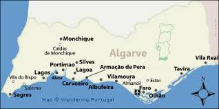 lagos city map algarve map map of the algarve s top cities for tourists