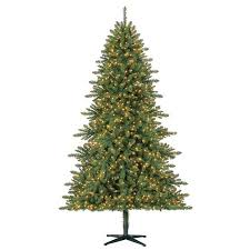 time pre lit 7 5 milford artificial tree led
