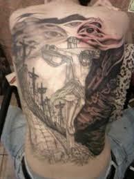 jesus cross back piece design tattoo tattoos book