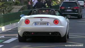 alfa romeo 8c alfa romeo 8c spider in monaco lovely sounds youtube