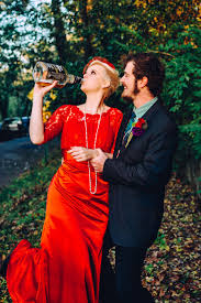 eclectic u0026 whimsical halloween wedding at home rock n roll bride