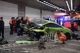 lamborghini crash china beijing lamborghini crash with ferrari triggers anti
