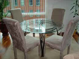 Round Glass Kitchen Table Imposing Amazing Glass Kitchen Tables Dining Inspiring Glass