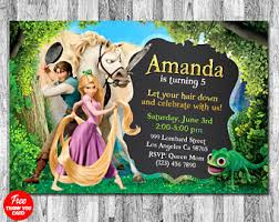tangled invite etsy
